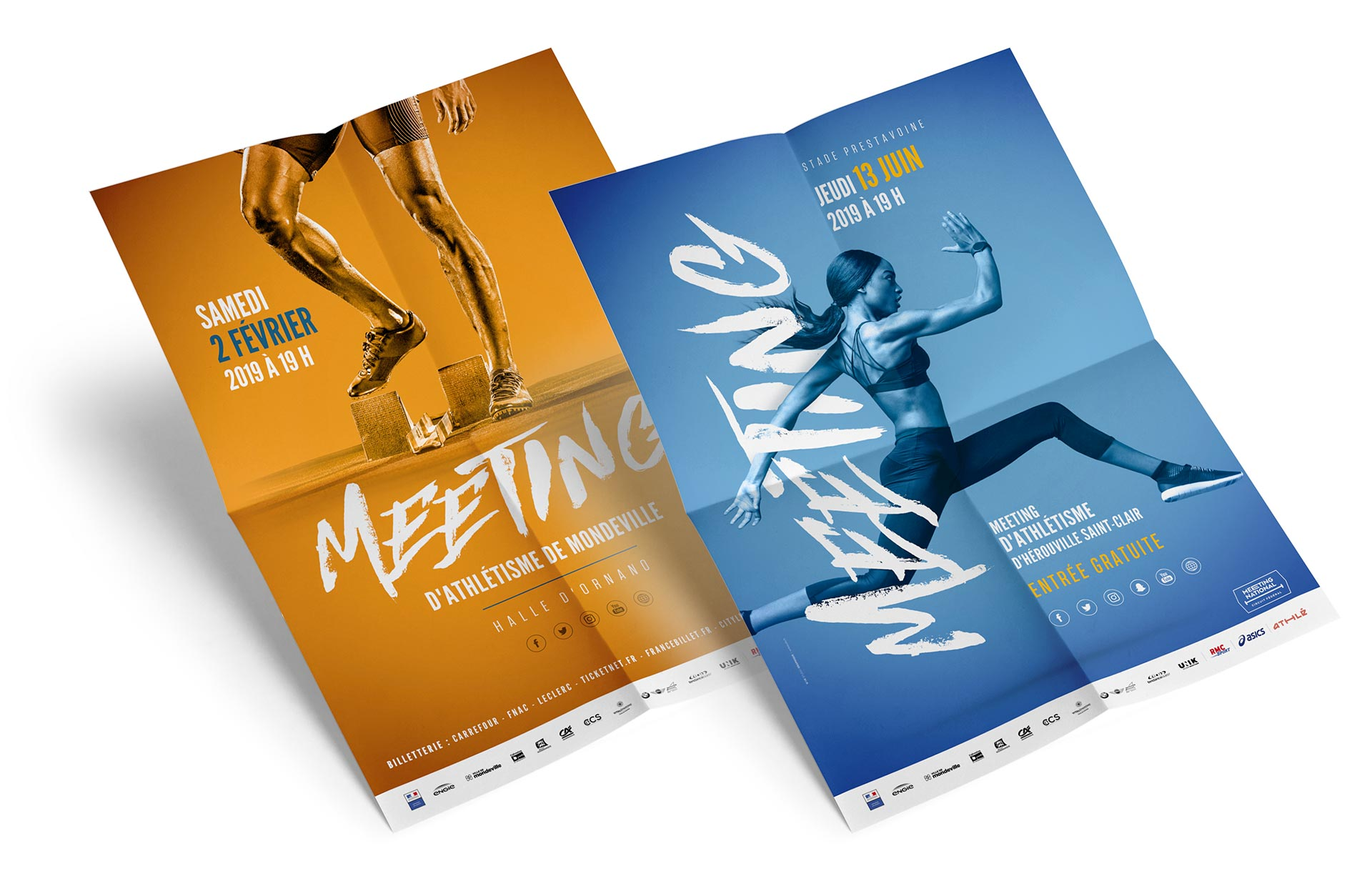 Affiche Meeting d'athlétisme