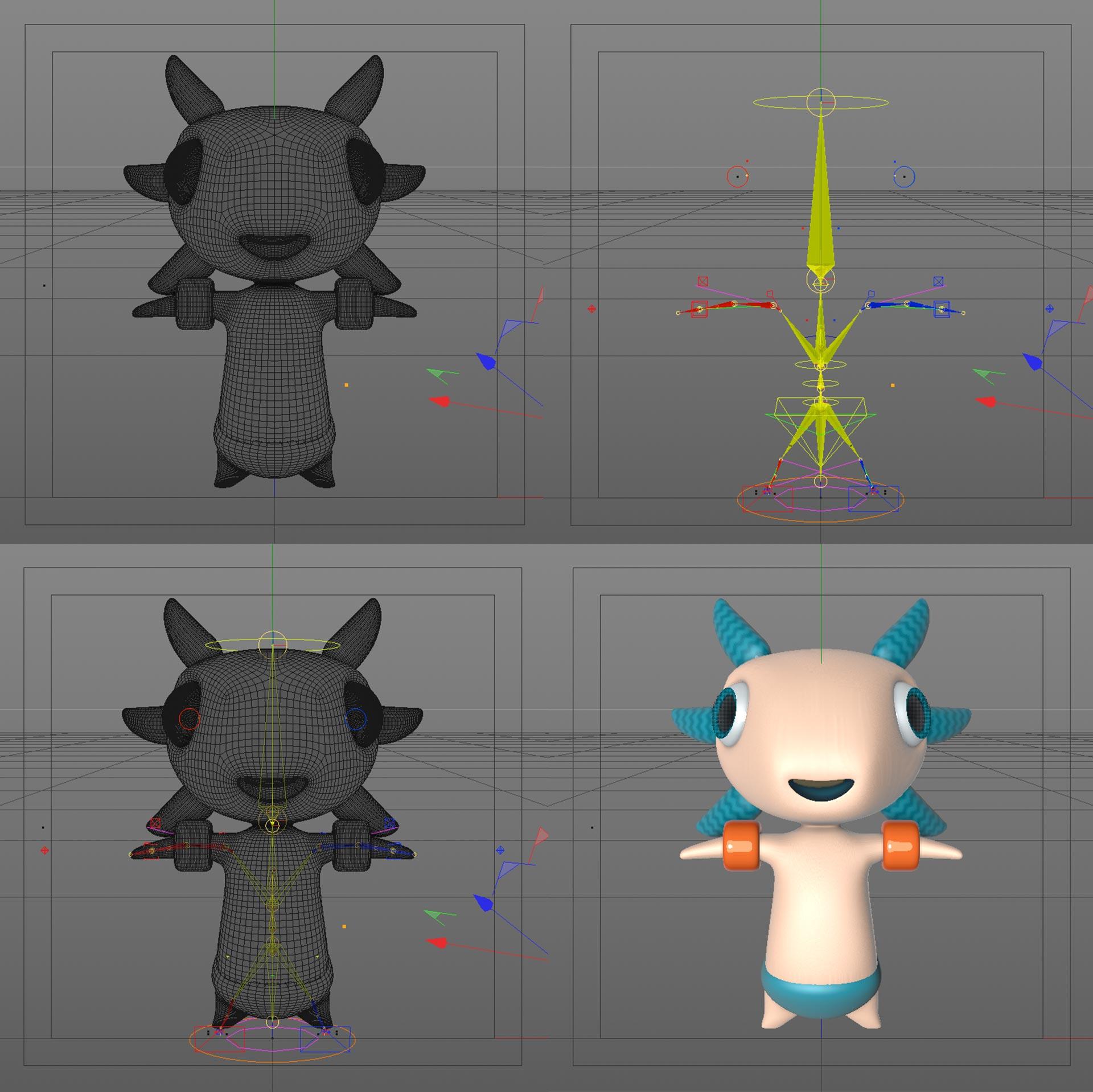 3D mascotte Auréo