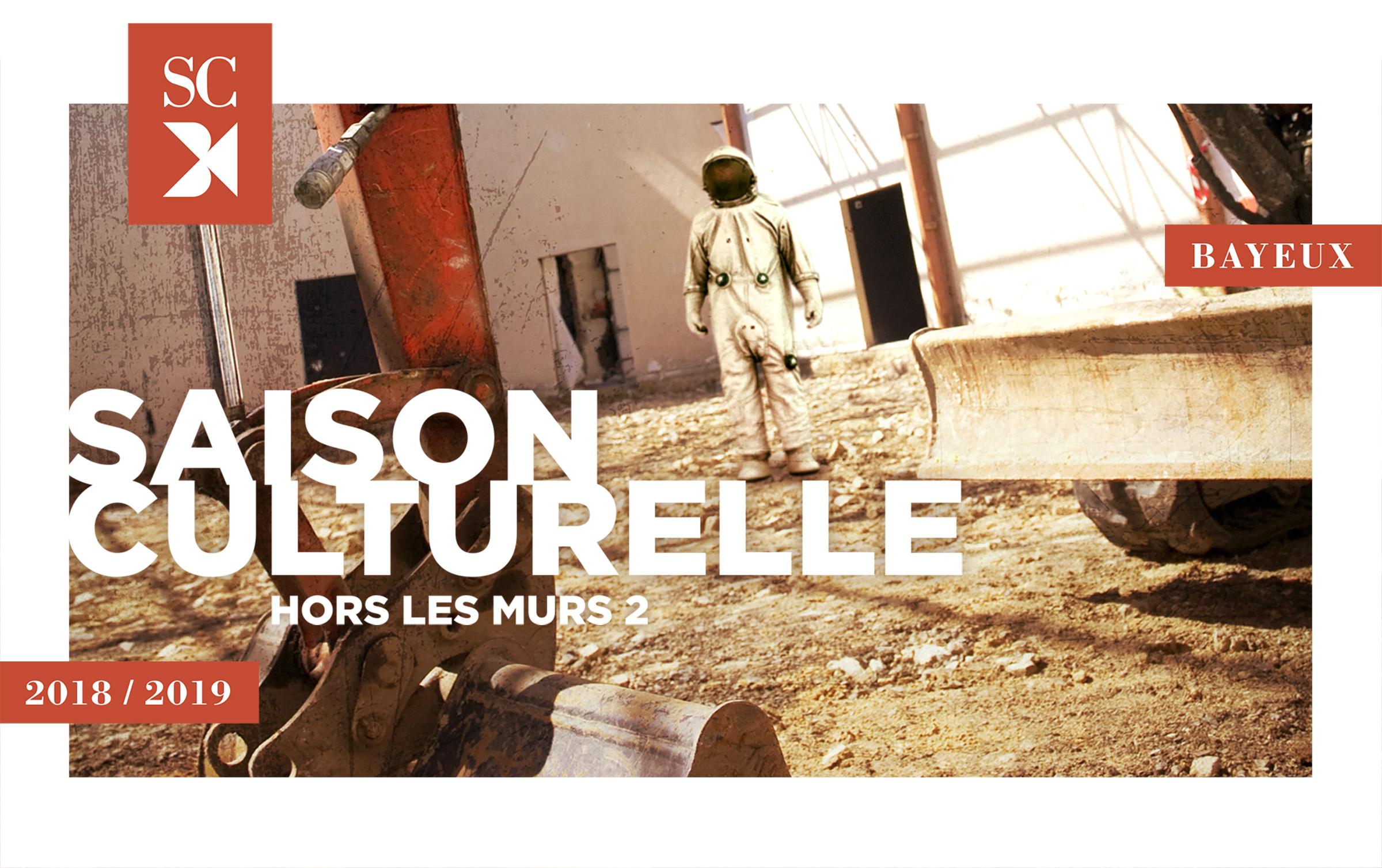 Visuel astronaute saison culturelle de Bayeux