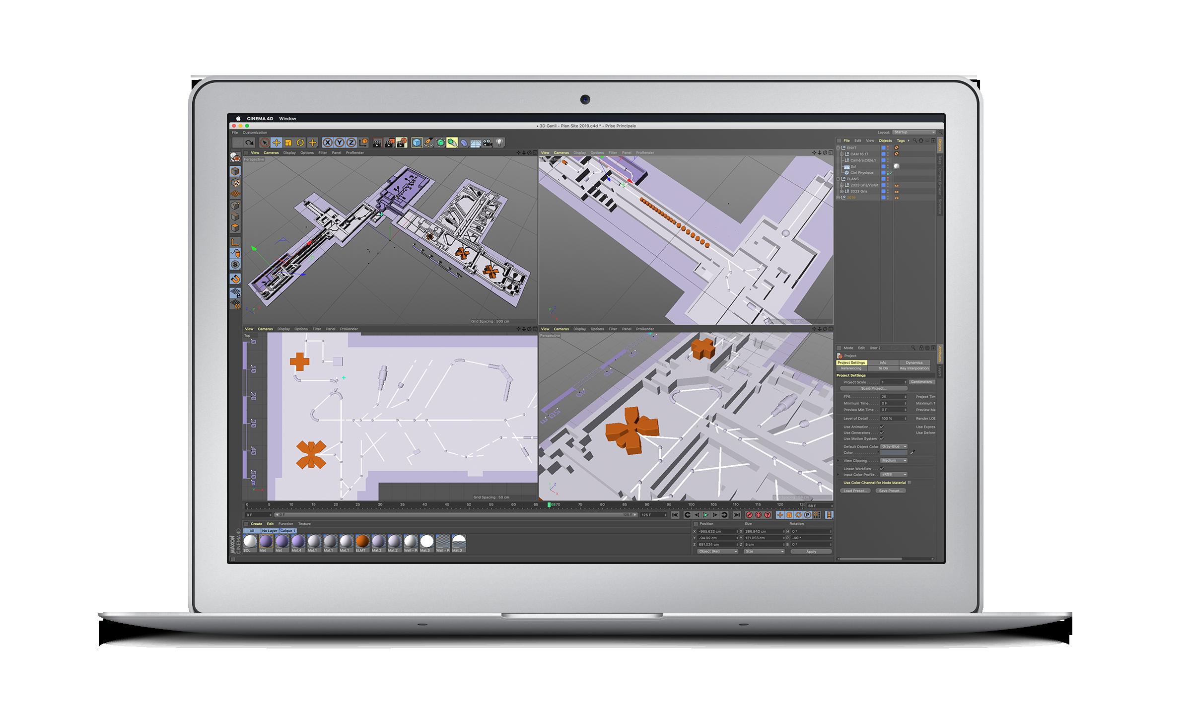 Maquette 3D plan GANIL
