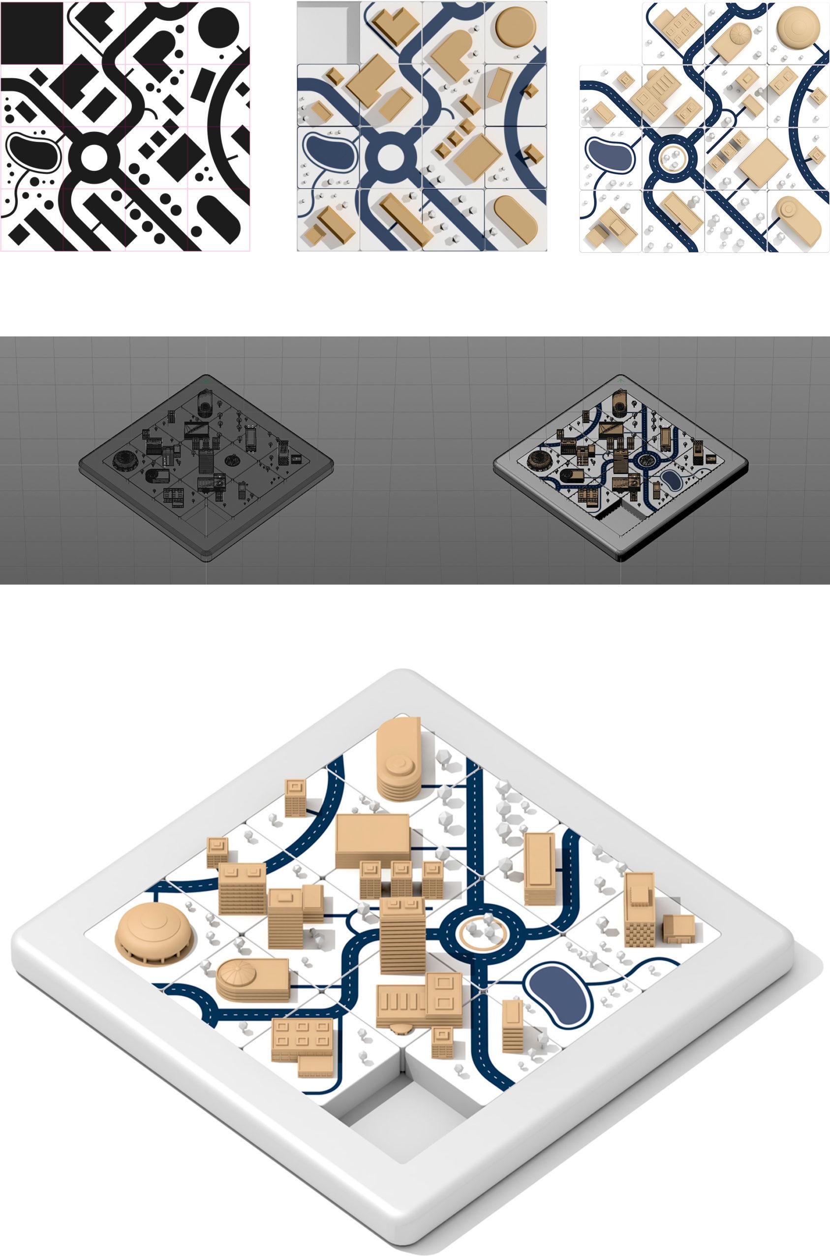 Création du Taquin 3D Normandie Aménagement