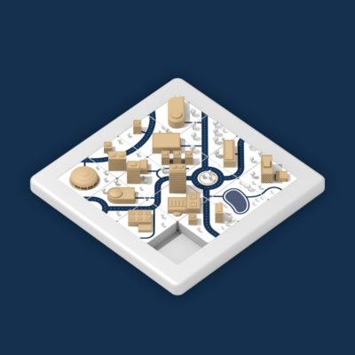 3D Carte de voeux Normandie Aménagement