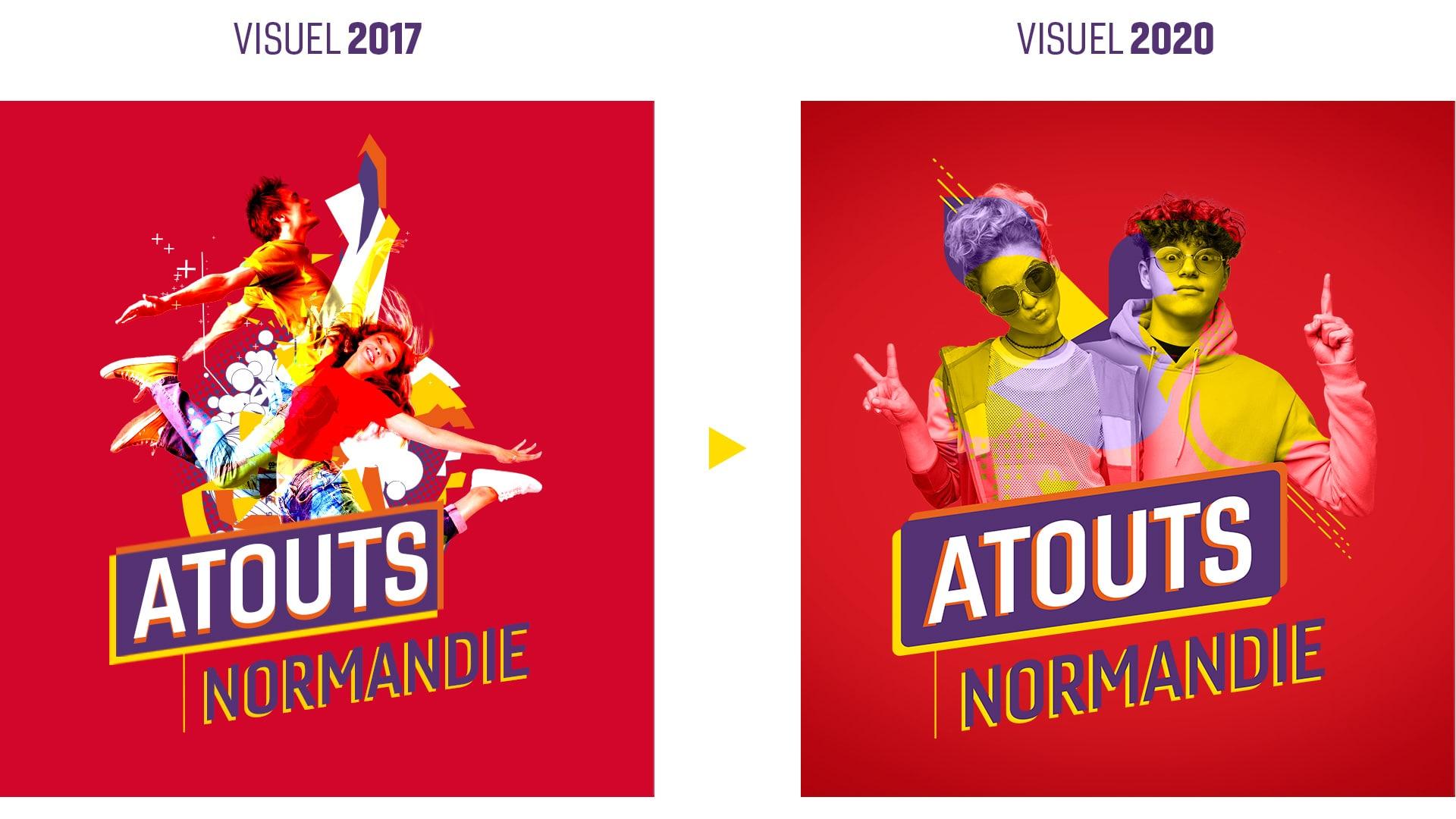Evolution du logo Atouts Normandie